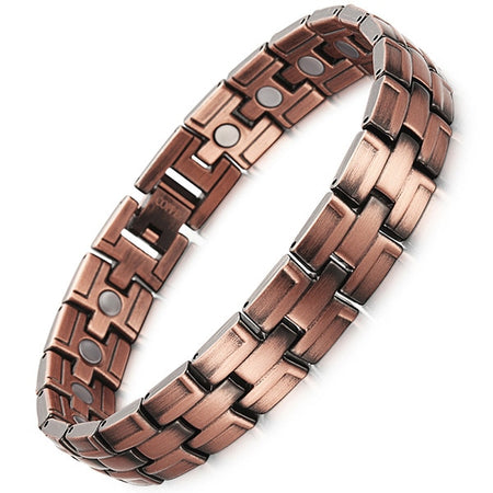 Men's Magnet Energy Bracelet For Bio Energy With Copper 2 Row Chain