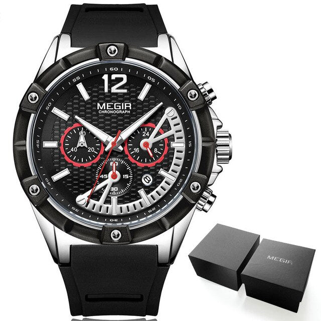 Chronograph Quartz Wrist Watches - Stopwatch, Waterproof