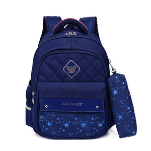 Large Capacity School Backpack With Zippers And Pencilcase - GiftWorldStyle - Luxury Jewelry and Accessories