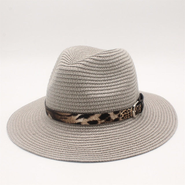 Straw Elegant Lady Hat With Floppy Brim Sunbonnet - GiftWorldStyle - Luxury Jewelry and Accessories