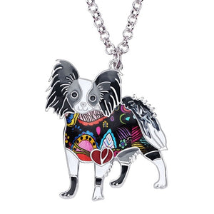 Dog Necklace Choker With Enamel Alloy In Multicolor
