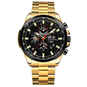 Mechanical Multi-function Stainless Steel Watch - Complete Calendar