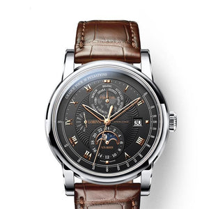 Men's Automatic Wristwatch With Week Display - Moon Phase