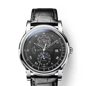 Men's Automatic Wristwatch With Week Display - Moon Phase - GiftWorldStyle - Luxury Jewelry and Accessories