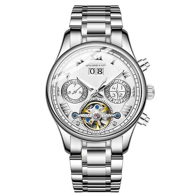 Men's Tourbillon Mechanical Waterproof Watch With Luminous Hands, Week - GiftWorldStyle - Luxury Jewelry and Accessories