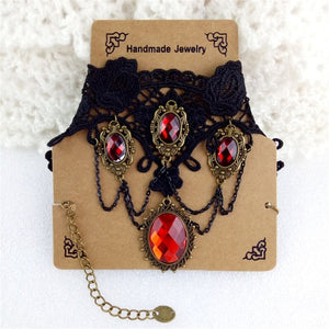 Gothic Vintage Lace Necklace - GiftWorldStyle - Luxury Jewelry and Accessories