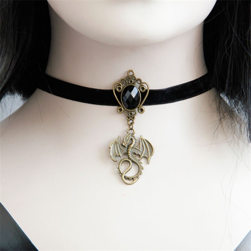 Gothic Dragon Choker Necklace - GiftWorldStyle - Luxury Jewelry and Accessories