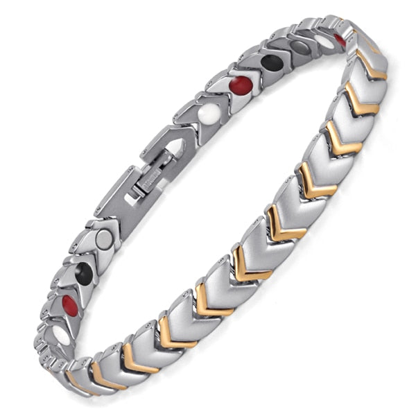 Titanium Magnetic Bracelet For Power With 4 Elements Magnetic Couples - GiftWorldStyle - Luxury Jewelry and Accessories