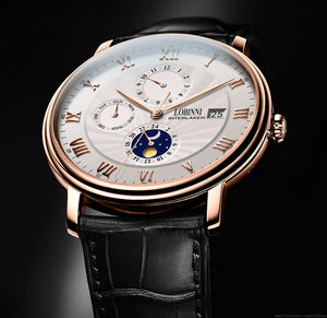 Mechanical Sapphire Wrist Watch - Week Display, Compass - GiftWorldStyle - Luxury Jewelry and Accessories