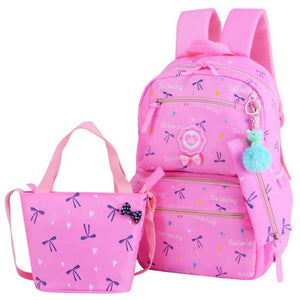 3 Set Schoolbag With Flowers Printing,Tassel And Zipper - GiftWorldStyle - Luxury Jewelry and Accessories