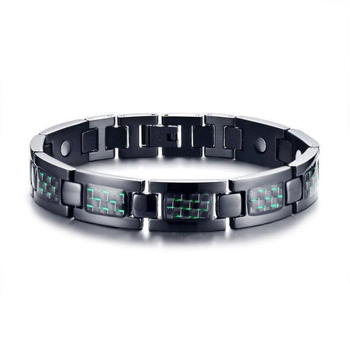 Carbon Fiber Bio Energy Power Magnetic Bracelet
