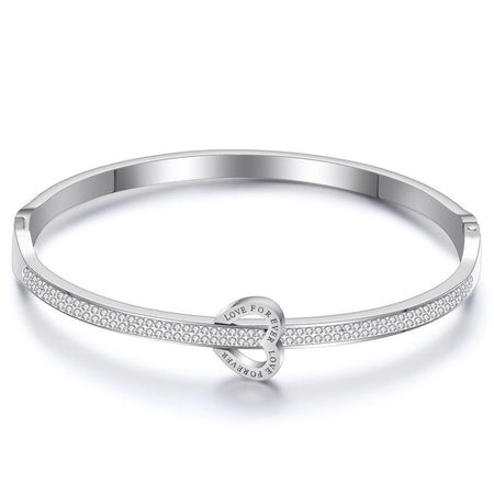 Bangles With Crystals - Stainless Steel - GiftWorldStyle - Luxury Jewelry and Accessories