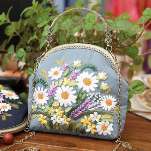 3D Embroidery Bag With Kits Cross Stitch Chain And Hoop