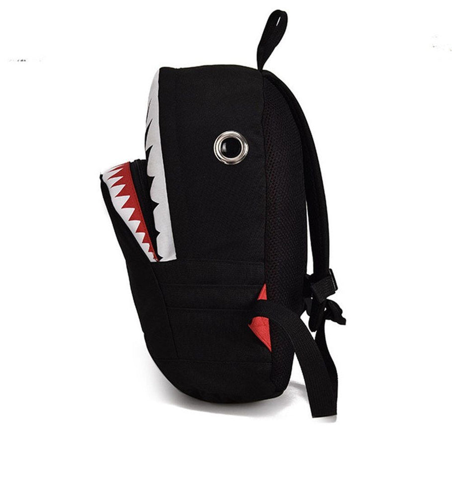 3D Cartoon Shark Backpack With Big Pocket and Zipper - GiftWorldStyle - Luxury Jewelry and Accessories