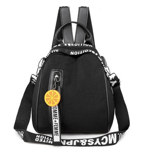 Women's Orange Charm Backpack
