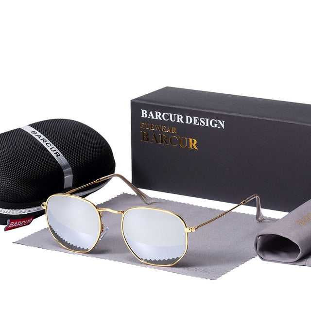 Reflective Sunglasses With Glass Lens And Stainless Steel Frame - GiftWorldStyle - Luxury Jewelry and Accessories
