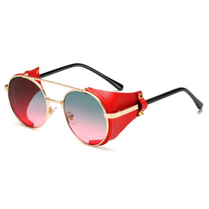 Round Steampunk Sunglass From Alloy Metal ,UV400 Shades - GiftWorldStyle - Luxury Jewelry and Accessories