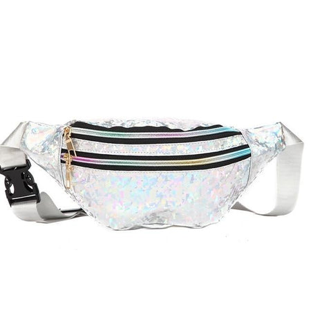 Hologram Waist Bag With 3-Zipper Pocket And Adjustable Handle - GiftWorldStyle - Luxury Jewelry and Accessories