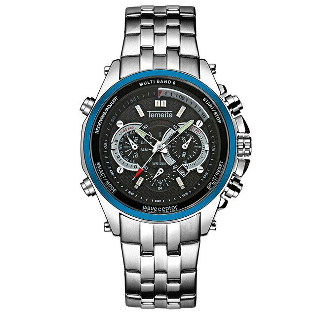 Men's Quartz Waterproof Watch With Bracelet Clasp, Complete Calendar - GiftWorldStyle - Luxury Jewelry and Accessories