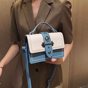 Casual Women Bag With Outer Clasp And Eyelets - GiftWorldStyle - Luxury Jewelry and Accessories