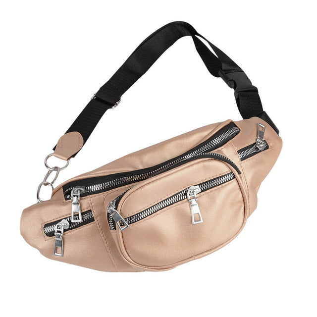 Pu Leather Waist Belt With A Much Zippers And Chain - GiftWorldStyle - Luxury Jewelry and Accessories