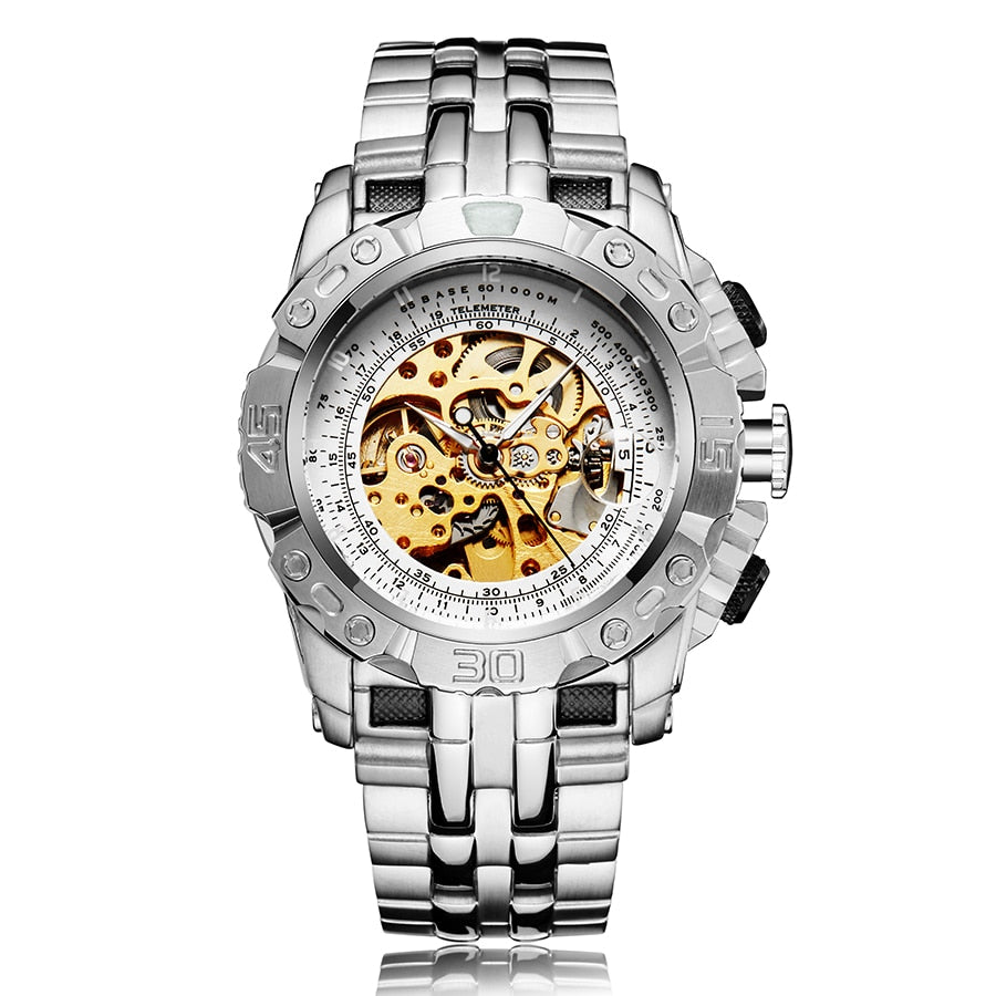 Automatic Mechanical Watch for Men - Over-sized Big Dial - GiftWorldStyle - Luxury Jewelry and Accessories