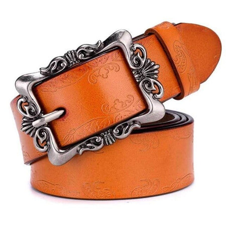 Punk Designer Belts With Genuine Cowskin Leather