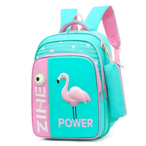 Orthopedic School Bag With 3D Flamingo Cartoon, Pencil Case - GiftWorldStyle - Luxury Jewelry and Accessories