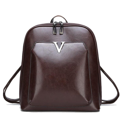 Women's Retro Leather Backpack