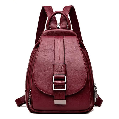 Women's Travel Leather Backpack