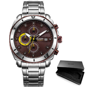 Men's Quartz Watch With  Luminous Hands, Complete Calendar, Auto Date - GiftWorldStyle - Luxury Jewelry and Accessories