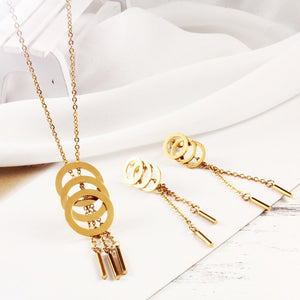 Tassel & Circle Jewelry Sets For Women - GiftWorldStyle - Luxury Jewelry and Accessories