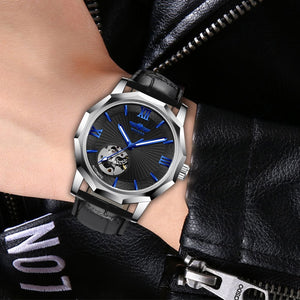 Transparent Automatic Mechanical Watch - Geometry Design - GiftWorldStyle - Luxury Jewelry and Accessories