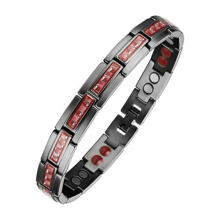 Germanium Magnetic Bracelet - Black Carbon