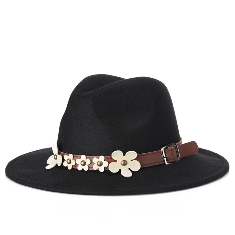 Women's Vintage Fashion Hat With Black Pearls and Flowers - GiftWorldStyle - Luxury Jewelry and Accessories