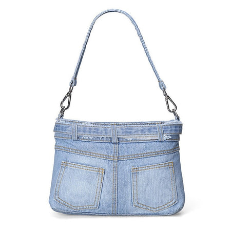 "Women's Shoulder Bag ""Denim"" With Jeans Pocket - GiftWorldStyle - Luxury Jewelry and Accessories"