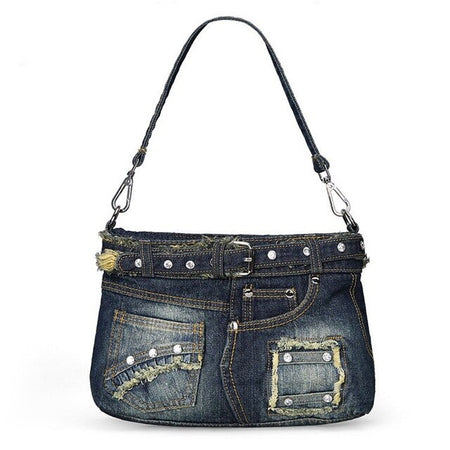 "Women's Shoulder Bag ""Denim"" With Jeans Pocket"