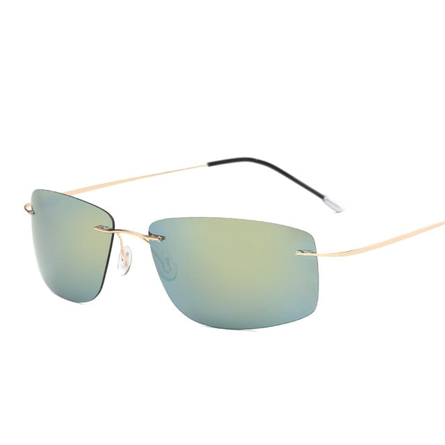 Rimless Titanium Polarized Sunglasses For Men,Anti-Reflective - GiftWorldStyle - Luxury Jewelry and Accessories