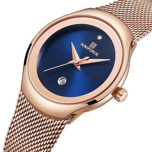 Women's Stainless Steel Mesh Quartz Watch - GiftWorldStyle - Luxury Jewelry and Accessories