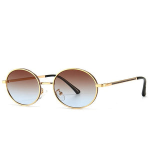Oval Shades Vintage Steampunk Sunglasses With Gravel Rhinestone,UV400 - GiftWorldStyle - Luxury Jewelry and Accessories