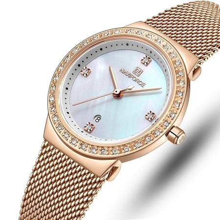Women's Luxury Crystal Mesh Bracelet Watch