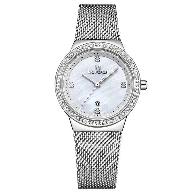 Women's Luxury Crystal Mesh Bracelet Watch - GiftWorldStyle - Luxury Jewelry and Accessories