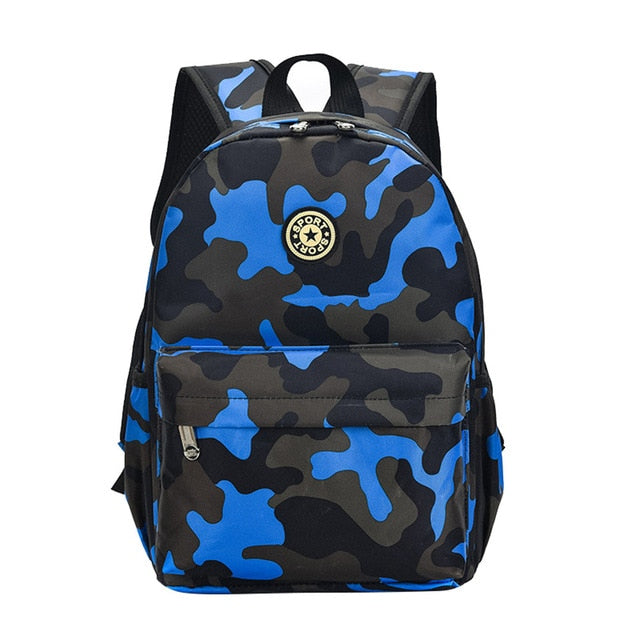 Camouflage Child Backpacks With Cute Printing Oxford Rucksack - GiftWorldStyle - Luxury Jewelry and Accessories