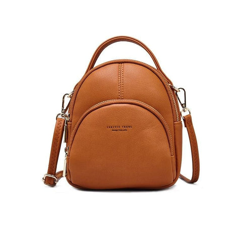 Women's Fashion Mini Leather Backpack