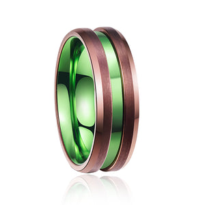 Men's Abalone Shell Tungsten Carbide Ring