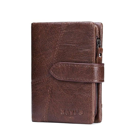 Leather Women Wallet With Claps for Coin