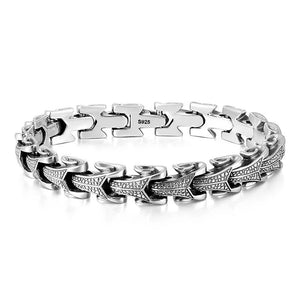 Gothic Solid 925 Sterling Silver Dragon Bracelet - GiftWorldStyle - Luxury Jewelry and Accessories