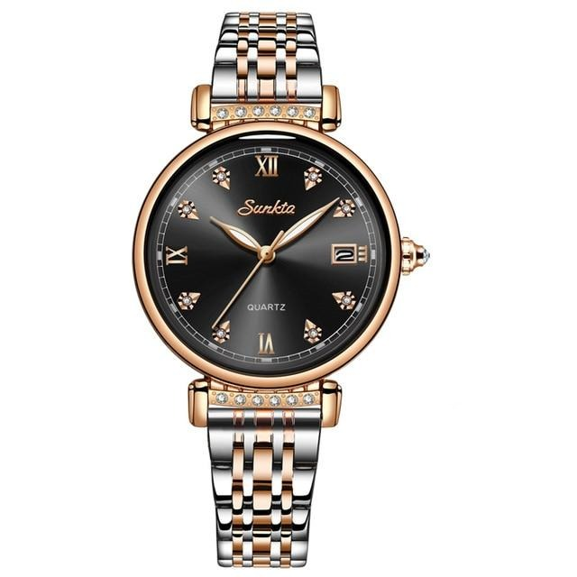 Women's Quartz Watch With Luminous Hands, Complete Calendar And Auto Date - GiftWorldStyle - Luxury Jewelry and Accessories