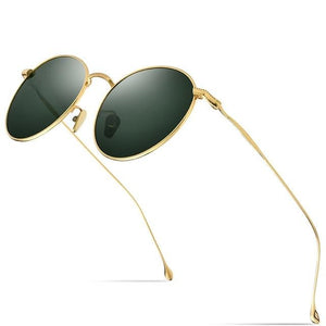 Round Titanium Sunglasses With UV400 Protection And Polaroid - GiftWorldStyle - Luxury Jewelry and Accessories