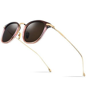 Titanium Polarized Retro Sunglasses In Square Shape,UV400 - GiftWorldStyle - Luxury Jewelry and Accessories